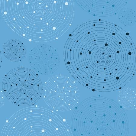 blue swirls: Abstract blue swirls seamless background. Vector illustration. Illustration