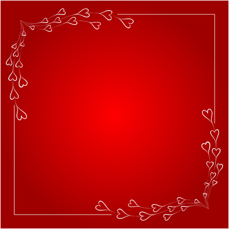 background pattern: Greeting frame for valentines day. Vector illustration.