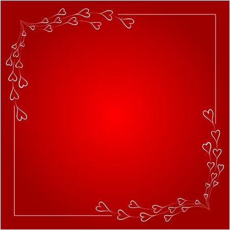 Greeting frame for valentines day. Vector illustration.