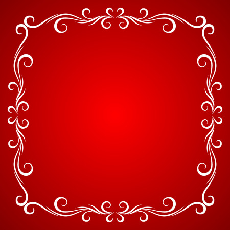 red and blue: Vintage Frame Design For Greeting Card.