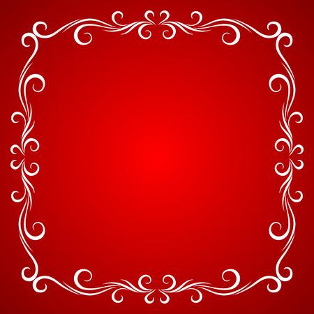 red icons: Vintage Frame Design For Greeting Card.