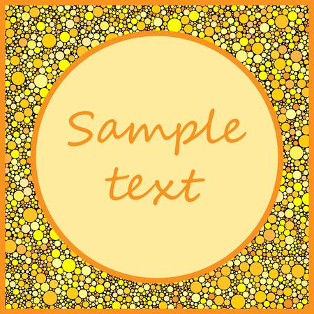 greeting card background: Abstract Polka dot greeting card background