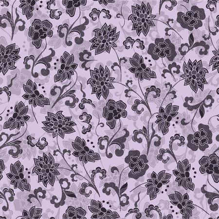 soulful: wallpaper seamless vintage floral pattern