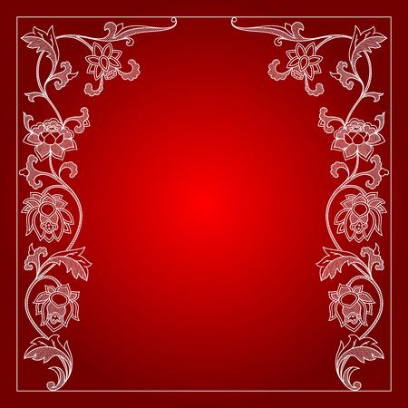 calligraphic design: Vector vintage border frame calligraphic design elements