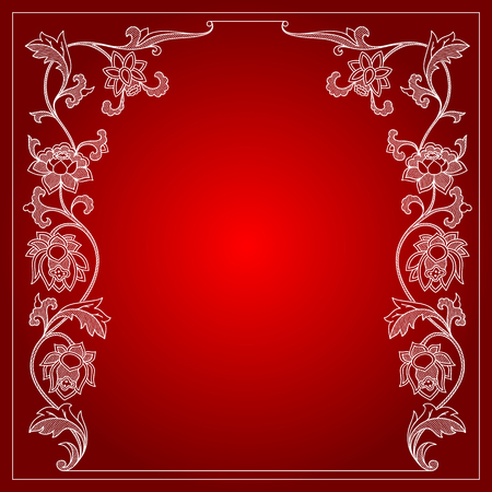 calligraph: Vector vintage border frame calligraphic design elements