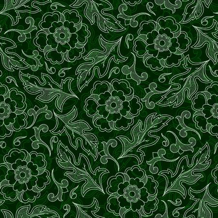 wallpaper seamless vintage flower pattern