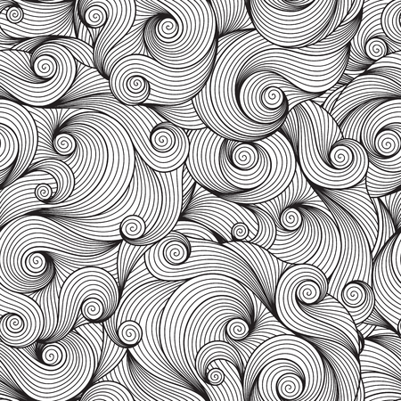 Doodle seamless background. Hand drawing doodle. Doodling pattern. 矢量图像