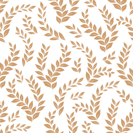 Floral pattern of leaves. seamless vector background.