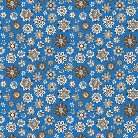 mhendi: Henna Mehndi Tattoo Doodles Retro Seamless Pattern Flowers Illustration Design Elements Illustration