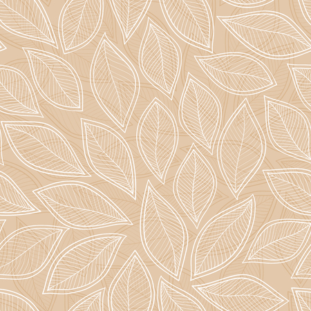 Seamless leaf pattern. Autumn background. Vector illustration