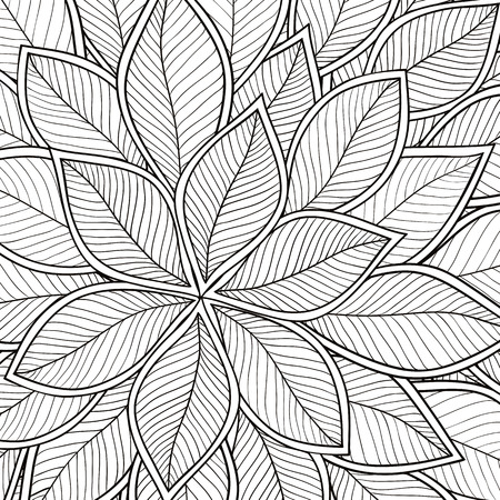 gray pattern: Abstract grey seamless pattern with leaves. Vector illustration.