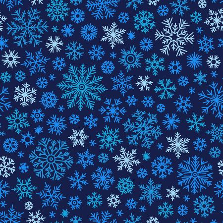 schneeflocke: Christmas seamless doodle Muster mit Schneeflocken, Vektor-Hintergrund Illustration