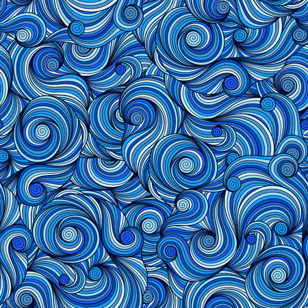 Seamless Asian ethnic floral retro background pattern in vector. Henna paisley mehndi doodles design tribal pattern. 矢量图像