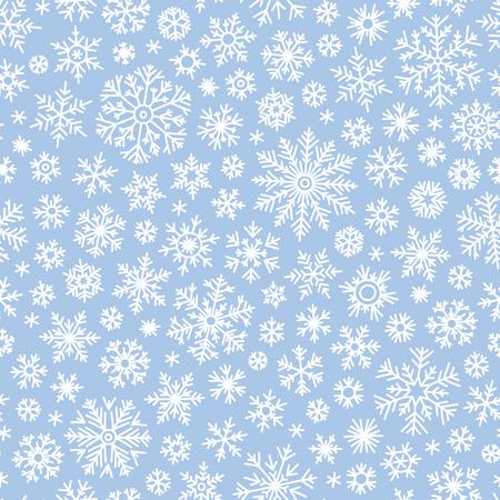 flocon de neige: Motif de doodle transparente de No�l avec des flocons de neige, vecteur, fond
