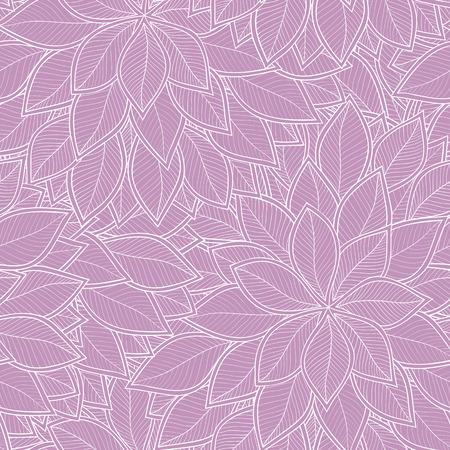 Abstract seamless pattern with leaves. Vector illustration. 矢量图像