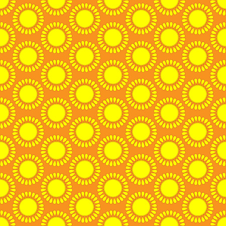 cartoon sun: Cute seamless vector pattern of sun. Doodle hand drawn style . Bright and beautiful retro seamless pattern. Retro Patterns Set