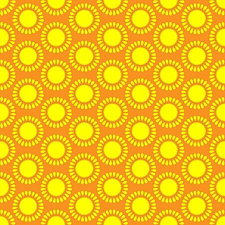 sonne: Nette nahtlose Vektor-Muster von Sonne. Doodle handgezeichneten Stil. Helle und schöne Retro nahtlose Muster. Retro-Muster
