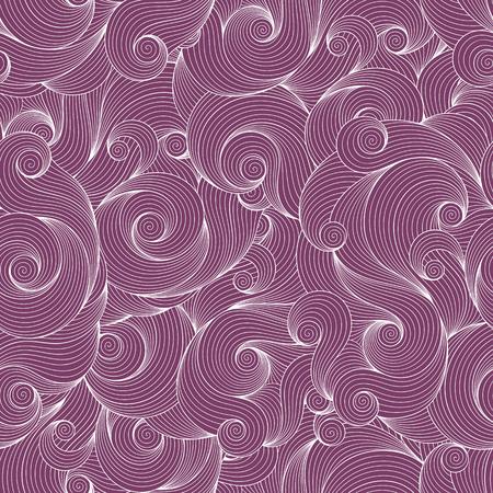 wawe: Doodle violet seamless background. Hand drawing doodle. Doodling pattern.