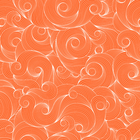 wawe: Seamless orange abstract hand-drawn pattern, waves background. Seamless pattern can be used for wallpaper, pattern fills, web page background,surface textures.