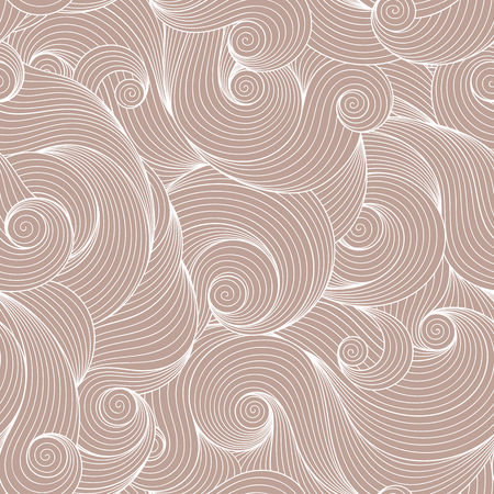 water weed: Seamless brown abstract hand-drawn pattern, waves background. Seamless pattern can be used for wallpaper, pattern fills, web page background,surface textures.