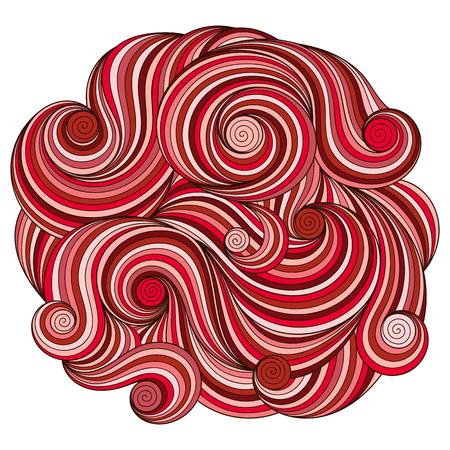 wave ornament: Circle wave ornament, ornamental round lace design. Lines mandala.