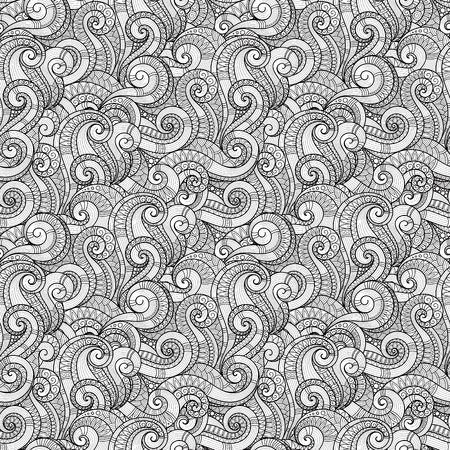 abstract art background: Seamless Pattern for coloring book.