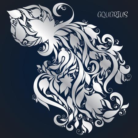 Aquarius. Astrology Zodiac sign. Vector zodiac. Hand drawn style.