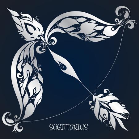 Sagittarius . Astrology Zodiac sign. Vector zodiac. Hand drawn style. 矢量图像