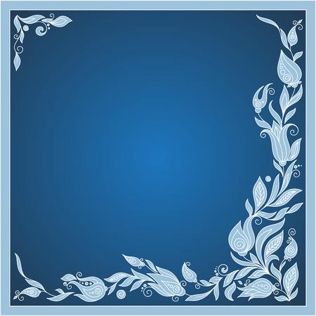 Saludo elementos de marco para el diseño. Ilustración vectorial El ejemplo brillante, se puede utilizar como tarjeta de felicitación, invitaciones para casarse, cumpleaños, el día de tarjeta del día de San Valentín. Diseño de las flores del Doodle de Paisley.