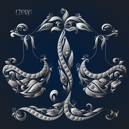 Libra. Astrology Zodiac sign. Vector zodiac. Hand drawn style.