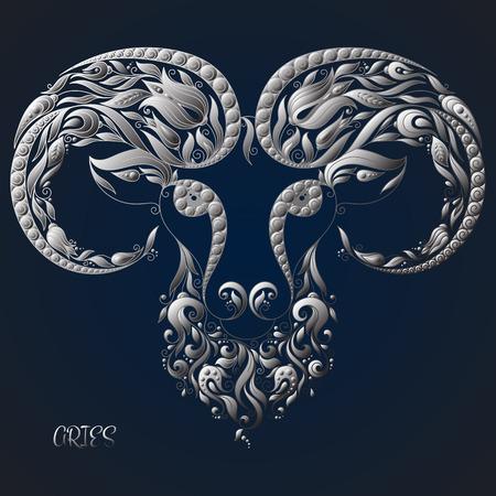 Aries. Astrology Zodiac sign. Vector zodiac. Hand drawn style.