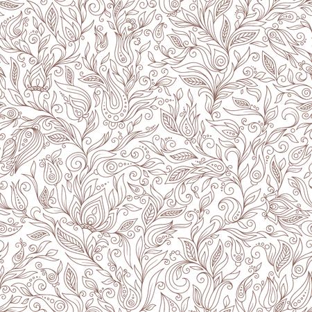 Nahtlose Muster. Paisley Blumen Illustration Design-Elemente