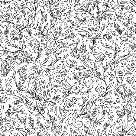 Doodle vector background. Henna paisley mehndi doodles design tribal design element