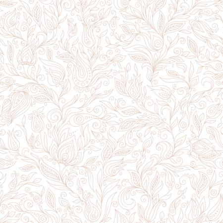 mhendi: Seamless Pattern. Paisley Flowers Illustration Design Elements