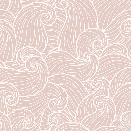 psychoanalysis: Seamless abstract hand-drawn waves pattern, wavy background. Seamless pattern can be used for wallpaper, pattern fills, web page background,surface textures. Gorgeous seamless background Illustration