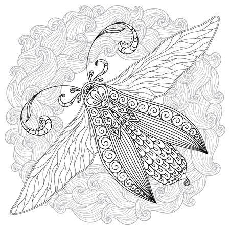 Modelo Para El Libro Para Colorear. Mariposa Henna Mehendi Tatuaje ...