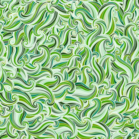 outline fish: Abstract hand-drawn pattern, waves background. Seamless pattern can be used for wallpaper, pattern fills, web page background, surface textures.