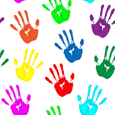 colored: Colored Hand Print
