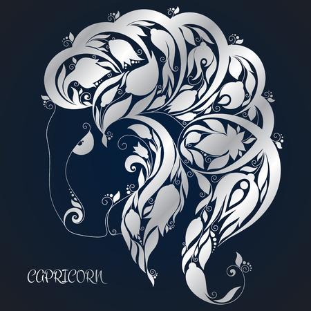 Capricorn. Astrology Zodiac sign. Hand drawn style.