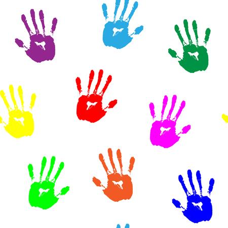hand print: Colored Hand Print