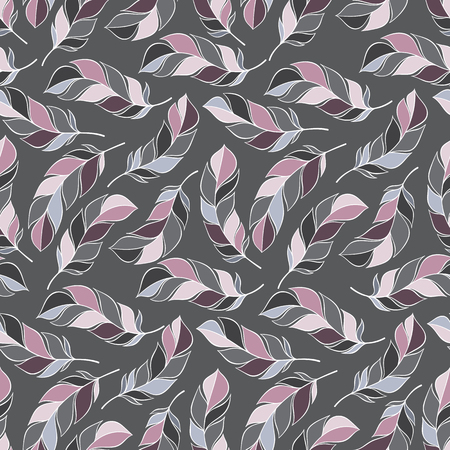desktop wallpaper: Vintage seamless pattern with hand-drawn feathers. for desktop wallpaper or frame for a wall hanging or poster,for pattern fills, surface textures, web page backgrounds, textile and more.