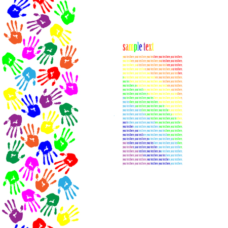 hand print: Colored Hand Print.