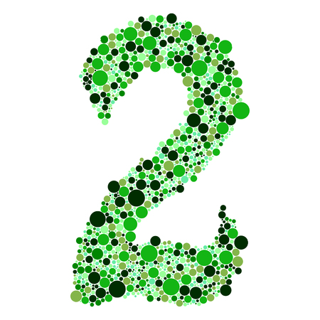 3 4: green alphabet symbols of colorful bubbles or balls. Numbers 12= 2 3 4 5 6 7 8 9 0