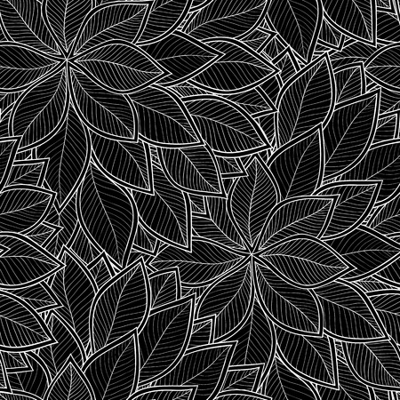 elegant backgrounds: Leaves seamless pattern background. Elegant texture for backgrounds. Floral ornament, seamless texture for wallpapers, textile, wrapping.