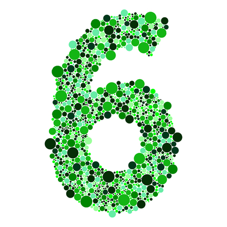 5 0: green alphabet symbols of colorful bubbles or balls. Numbers 12= 2 3 4 5 6 7 8 9 0