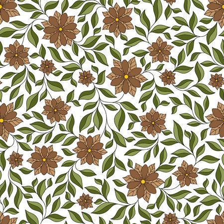 mhendi: Henna Mehndi Tattoo Doodles Seamless Pattern . Flowers Illustration Design Elements Illustration