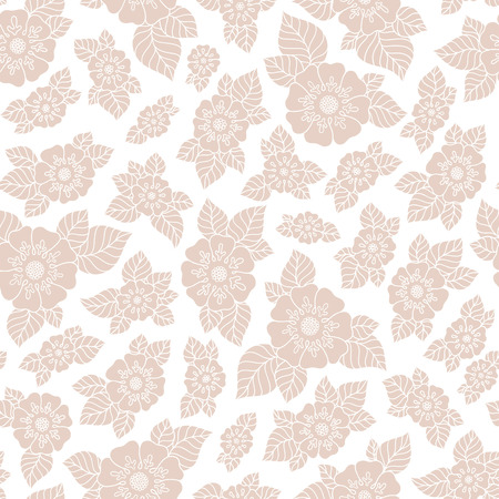 elegance: Abstract elegance seamless pattern with floral background Illustration