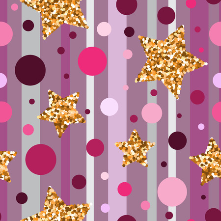 festive pattern: Seamless pattern with gold glitter textured stars.