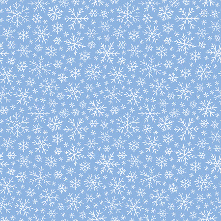 Vector seamless hand drawn simple snow pattern. Winter background with snowfall Stock Vector - 77854645