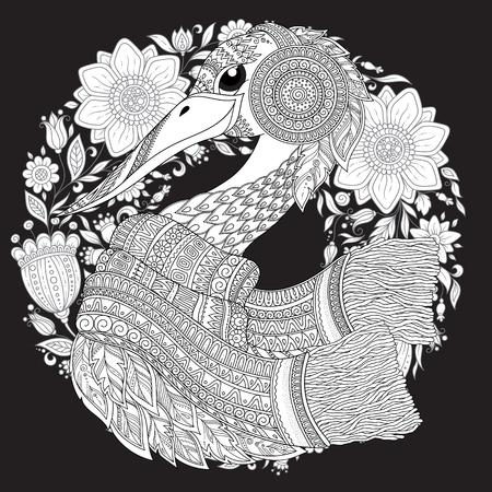 Strok, Fantastische Blumen, Zweige, Blätter. Für Anti - Stress ...